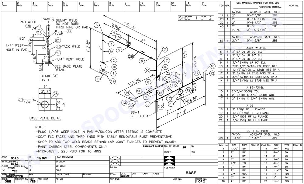 Spool Drawing Solutions : One stop service for pipe spool