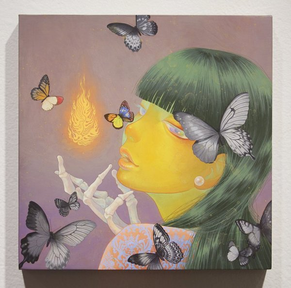 Surreal Woman and Butterfly
