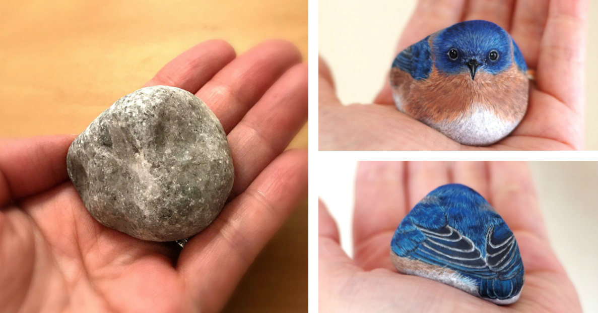realistic miniature animals painted