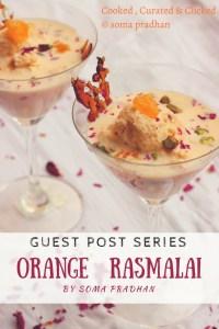 Orange Rasmalai By Soma Pradhan