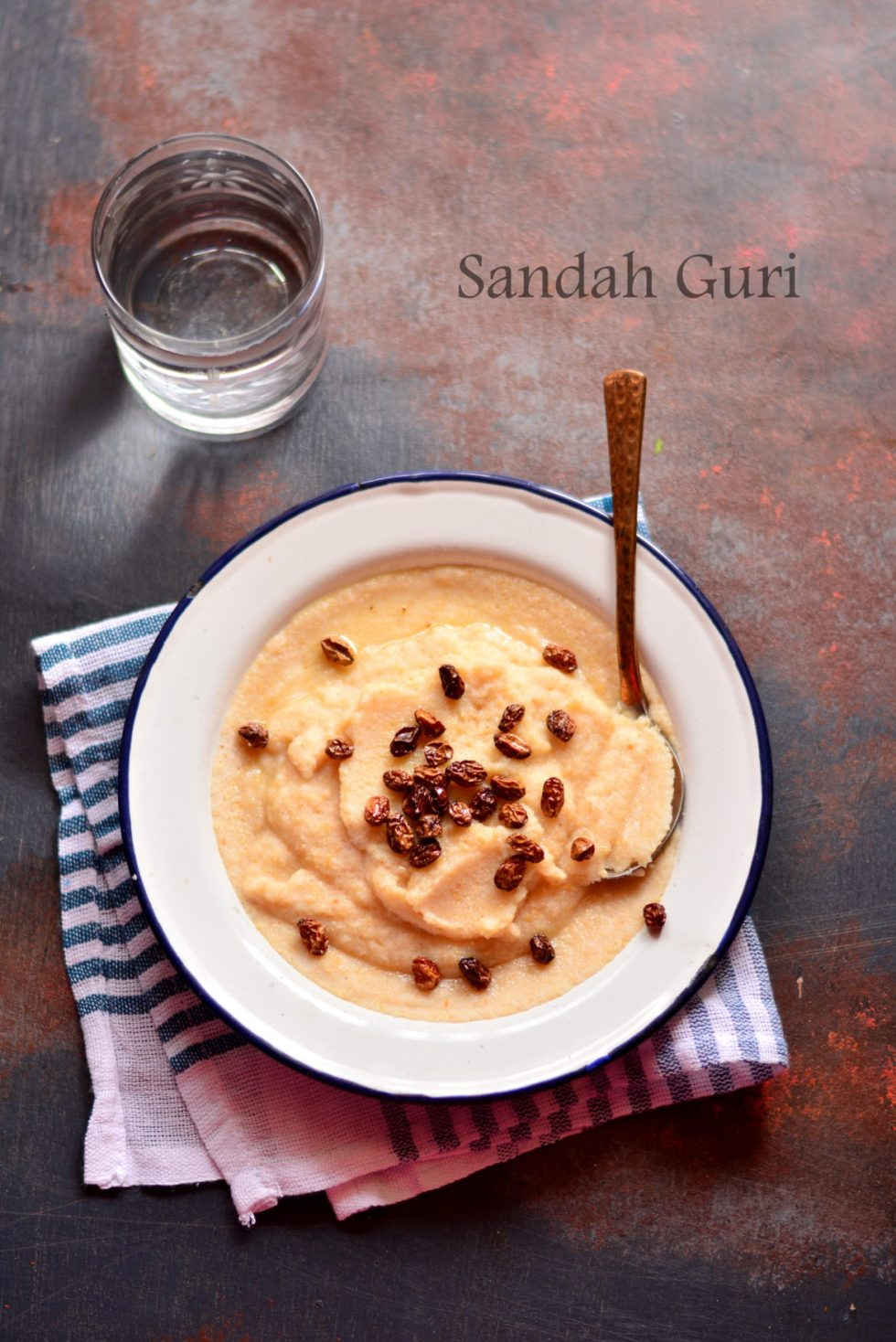 Sandah Guri Recipe (Assamese Roasted Rice Flour Porridge)