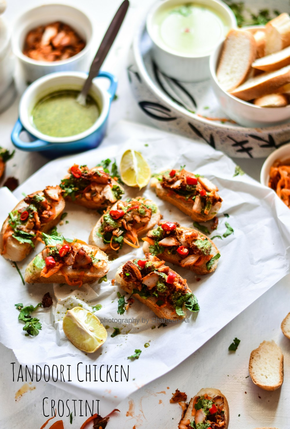 Tandoori Chicken Crostini