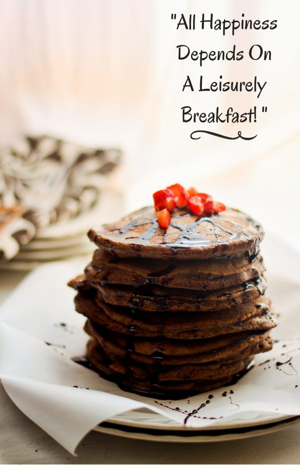 Ragi & Chocolate Pan Cake