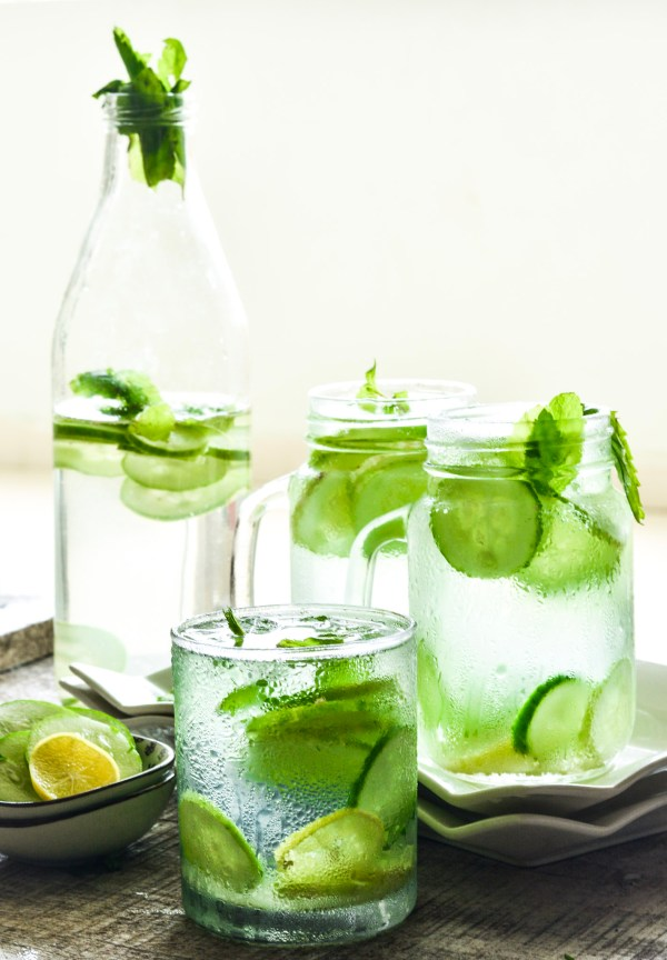 Flat Belly Overnight >> Ginger Cucumber Detox Juice - Skinny Body or Flat Belly Water