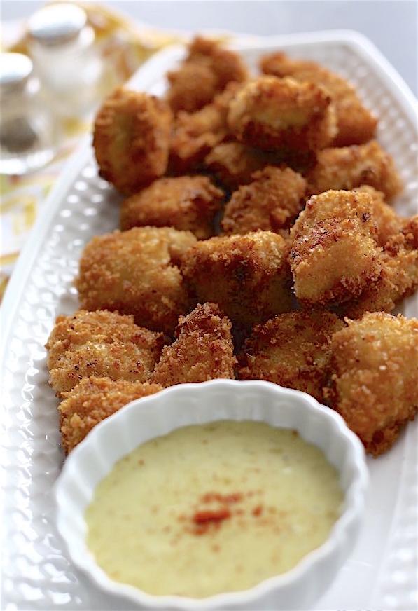 Crispy Chicken Bites + Honey Mustard Dip