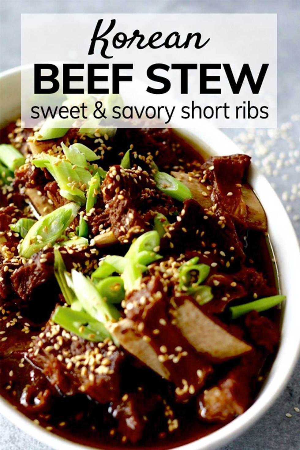 korean beef stew  braised beef short ribs