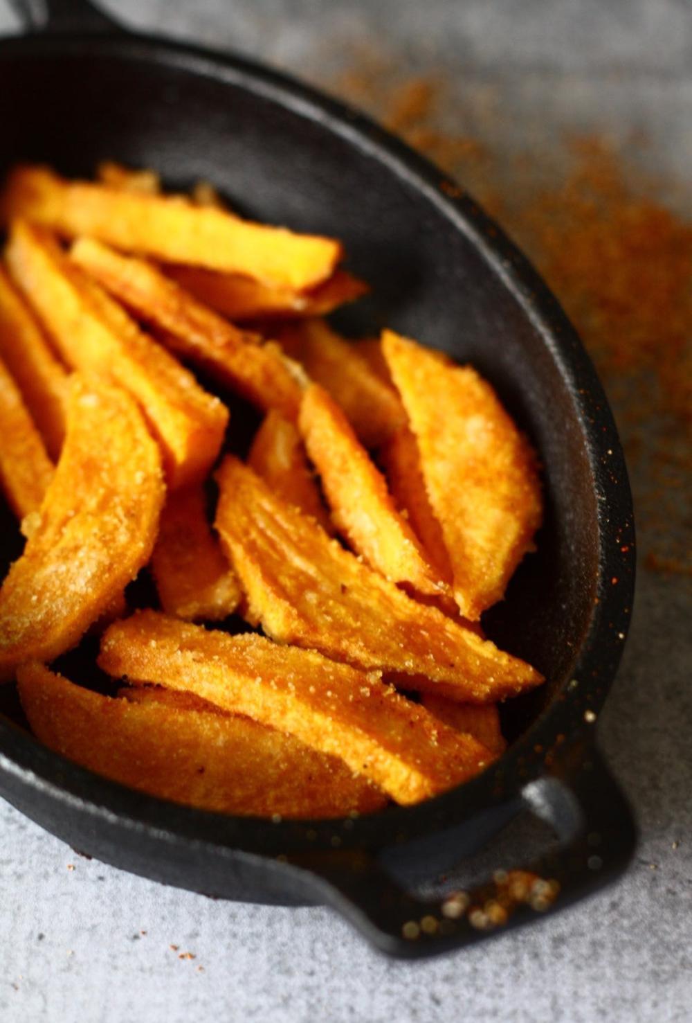 Crispy Sweet Potato Fries with Spice Mix