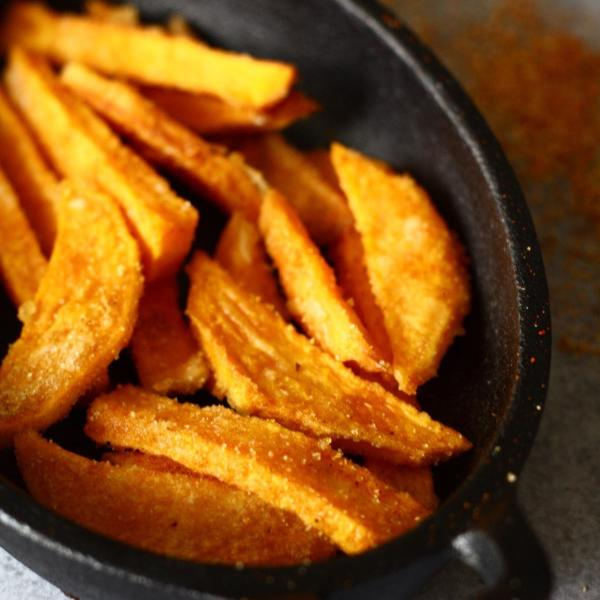 Crispy Sweet Potato Fries | SpoonfulOfButter.com