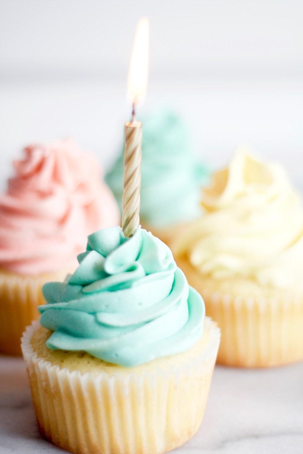 Vanilla Birthday Cupcake