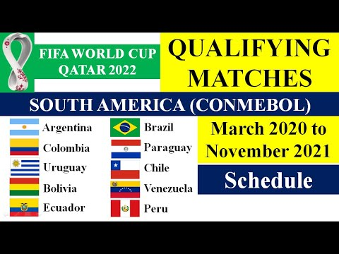 South America Qualifying Round-FIFA World Cup-Qatar 2022 Schedule-South America and Bangladesh Date.
