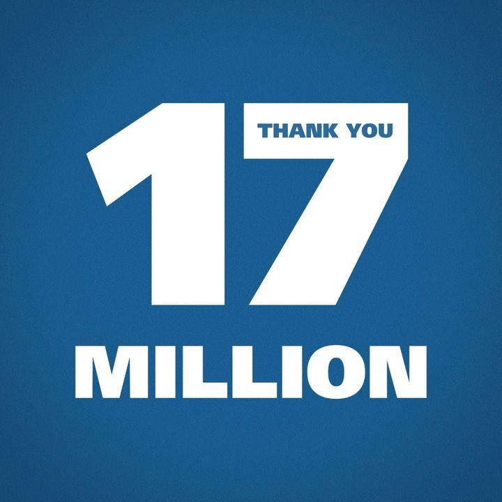 Football without fans is nothing  Thank you to all 17 MILLION of our followers!...