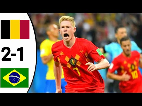 Brazil vs Belgium 1-2 Fifa World Cup 2018 full highlights and goals hd