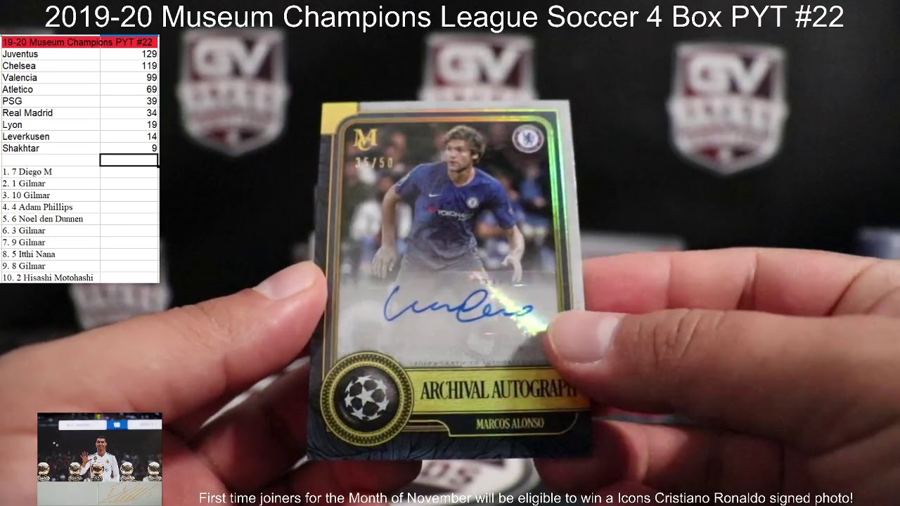 2019/20 Topps UEFA Champions League Museum Collection Soccer 4 Box PYT #22