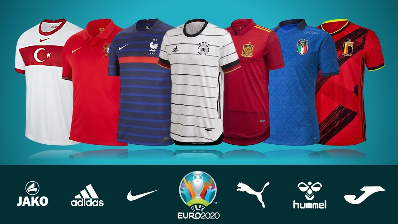 COOL!!! ALL 24 TEAM'S KITS UEFA EURO 2020/2021: HOME & AWAY JERSEYS