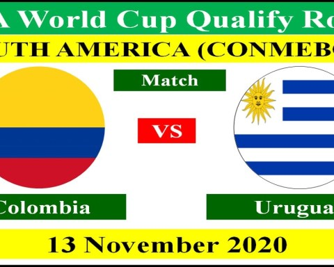 Colombia vs Uruguay on 13 November 2020 in the FIFA World Cup 2022 Qualifying Match.
