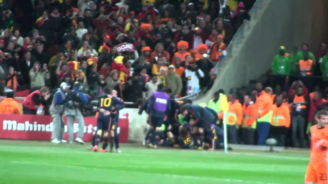 FIFA World Cup Finals 2010 Match Spanish Goal Celebration