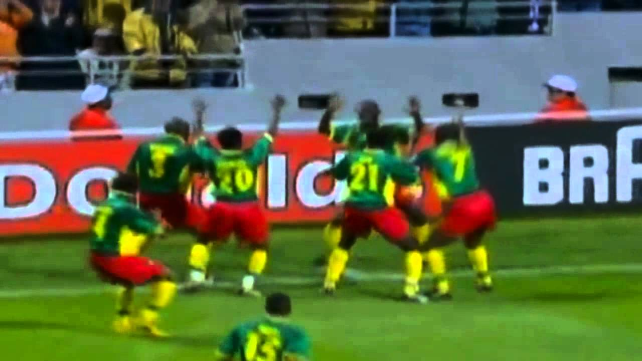 Njanka makes beautiful goal to Cameroon in the 1-1 tie with Austria in the 1998 World Cup