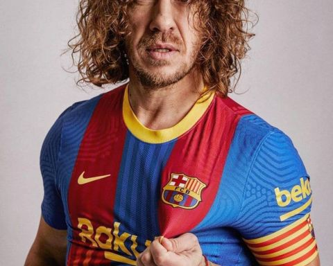 Three-time winner Carles Puyol...  Describe him in one word!   :    ...