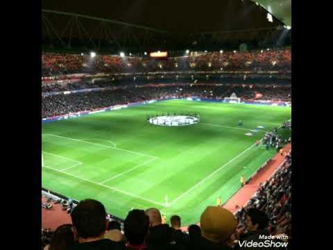 Atmosphere of Arsenal F.C.   for UEFA Champions League Anthem