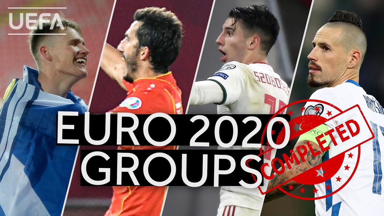 SCOTLAND, NORTH MACEDONIA, HUNGARY, SLOVAKIA: EURO 2020 groups are now completed!!