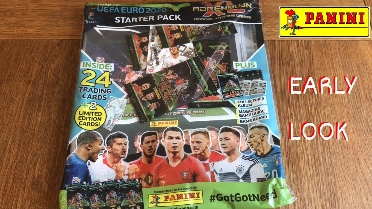 STARTER PACK OPENING! ADRENALYN XL ROAD TO UEFA EURO 2020