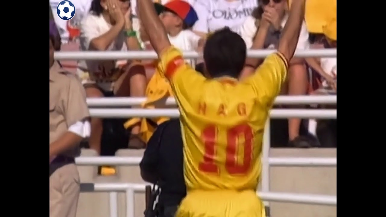 Gheorghe Hagi Goal - World Cup 1994 - Group A | Colombia - Romania 1:3 | 34'