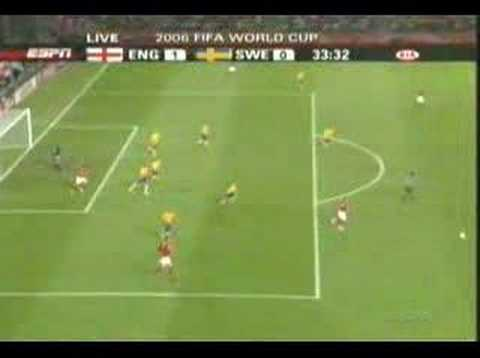 Joe Cole Incredible Goal Against Sweden in World Cup 2006