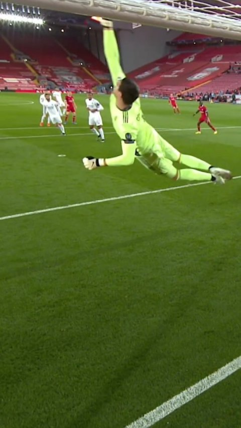 Big save by  at Anfield                 ...
