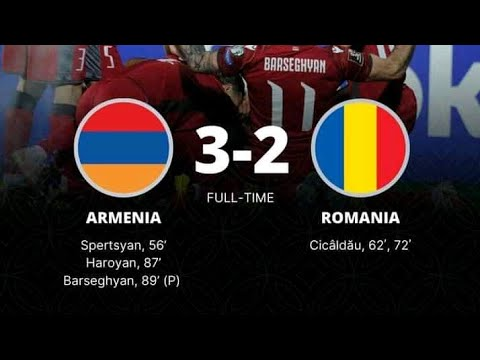 Armenia 3-2 Romania FIFA World Cup 2022