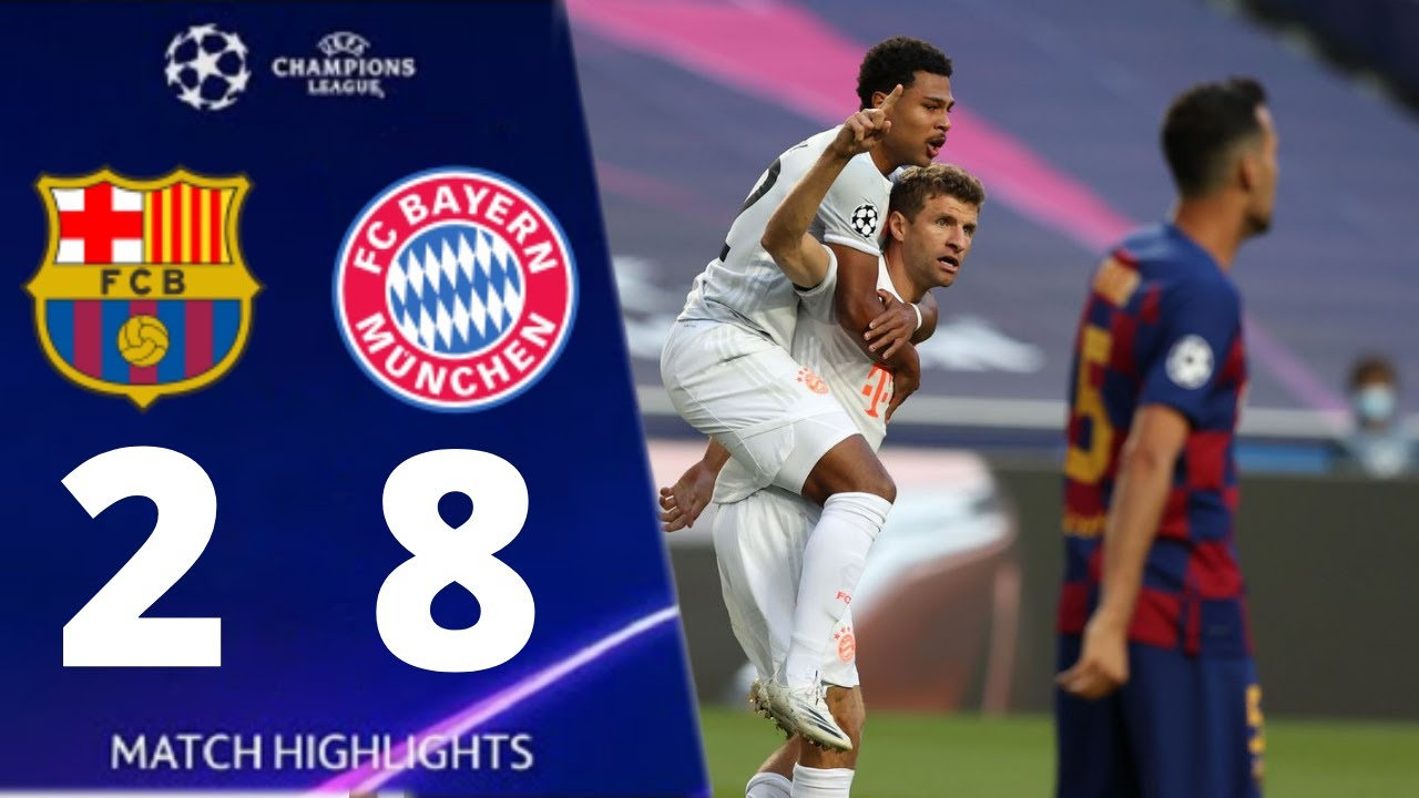 Barcelona vs Bayern 2-8 UEFA Champions League 2020 All Goals And Extended Highlights