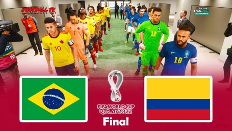 Brazil vs Colombia   Final FIFA World Cup 2022   PES 2021 Gameplay PC