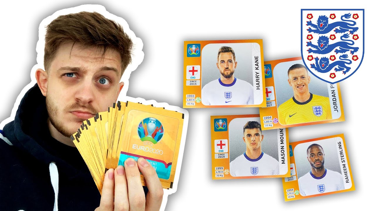 HUNTING for *ENGLAND STICKERS* in *30* PANINI EURO 2020 packs!! (sticker hunt!!)