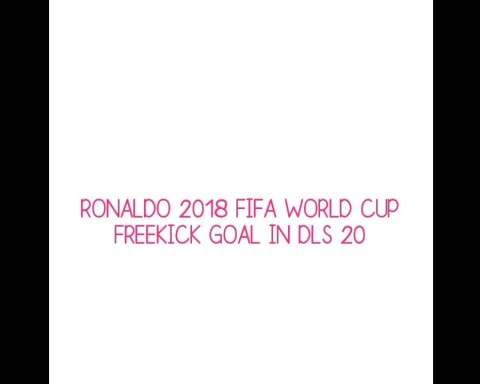 Ronaldo 2018 FIFA world cup freekick goal in DLS 20