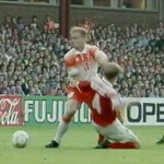 Dennis Bergkamp kept defenders spinning ...