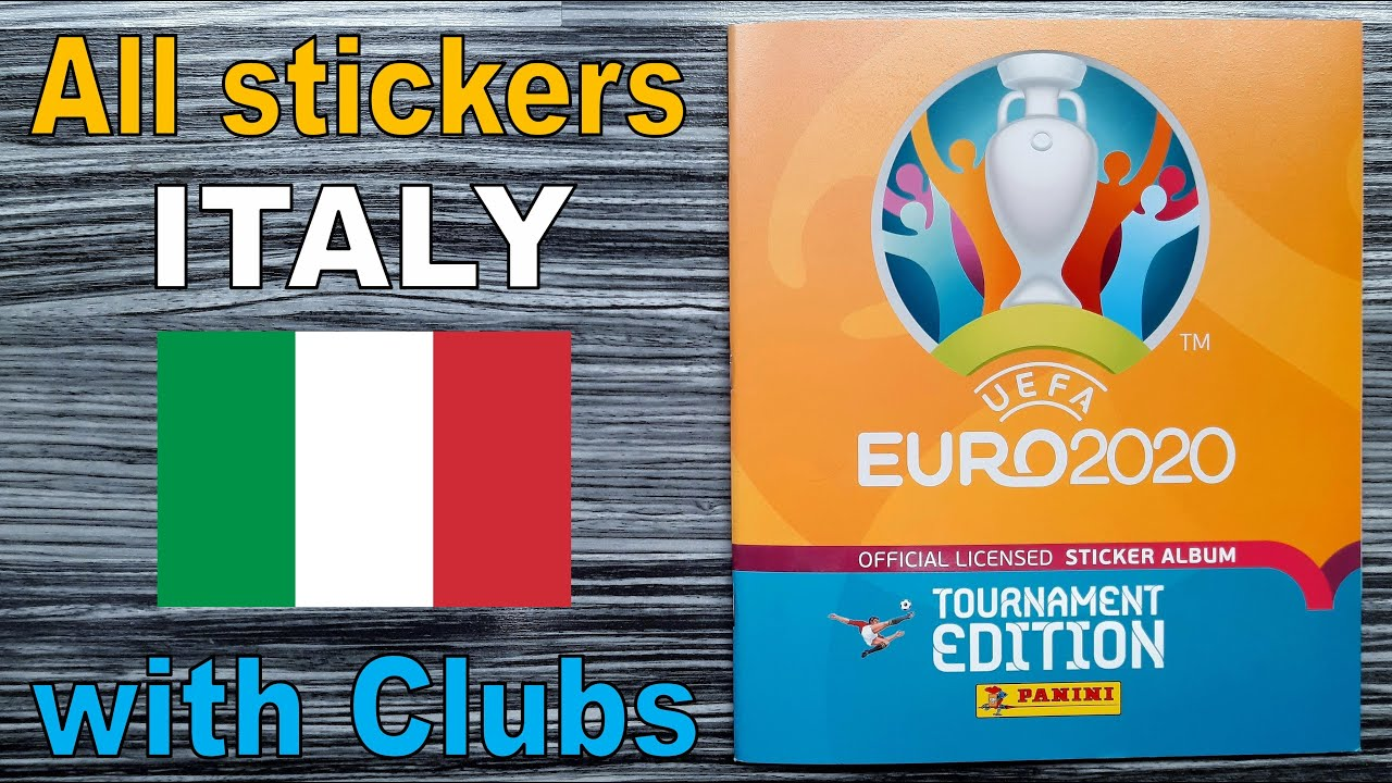 """Complete ITALY stickers in Panini Album """"EURO 2020 Tournament Edition"""" with clubs (Euro 2021)"""