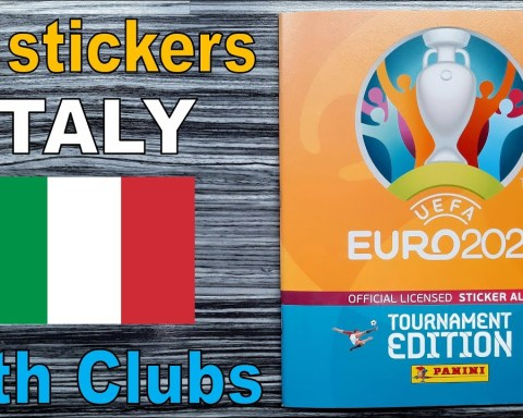 "Complete ITALY stickers in Panini Album ""EURO 2020 Tournament Edition"" with clubs (Euro 2021)"