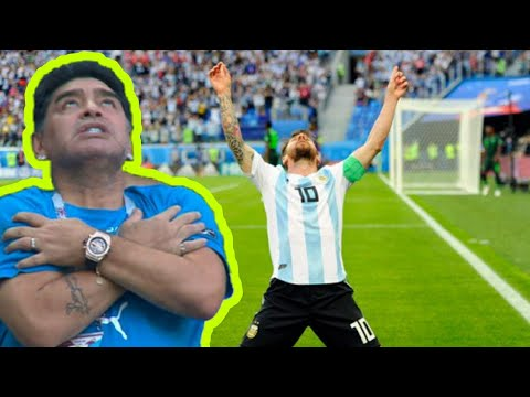 FIFA WORLD CUP 2018 Messi's goal against Nigeria and Maradona's reaction Ful HD