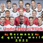 Germany football team  squad Qatar world cup 2022.Under Hanci Flick.