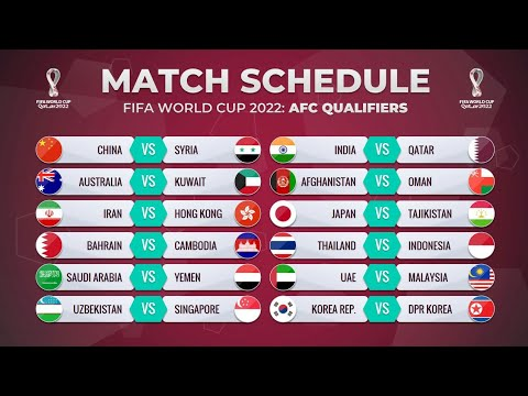 MATCH SCHEDULE: FIFA WORLD CUP 2022 AFC QUALIFIERS