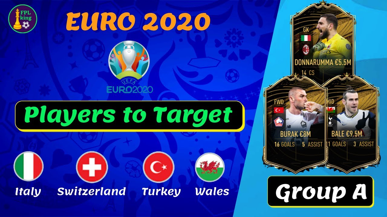 EURO 2020 FANTASY Group A BEST PLAYER PICKS  | Players to Watch | Euro Fantasy Tips & Tricks 2020/21