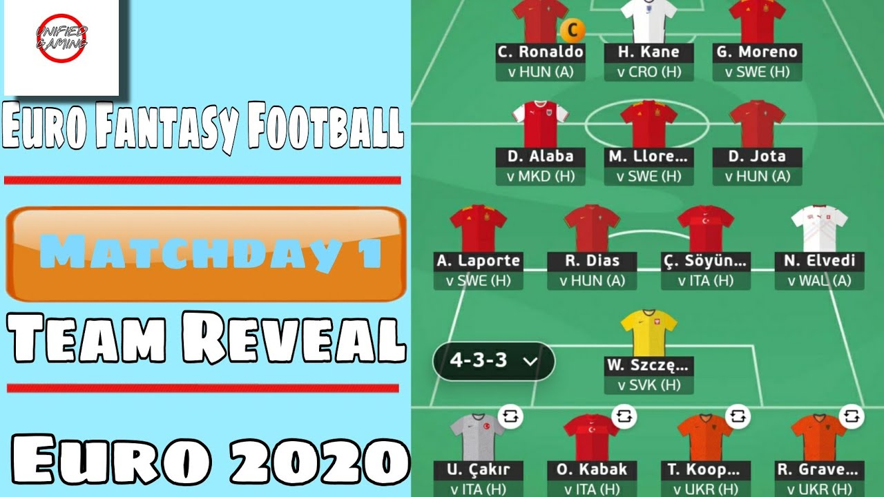 Official UEFA EURO 2020 | Matchday 1 : TEAM SELECTION | Best Chips Strategy? | Fantasy Football Tips