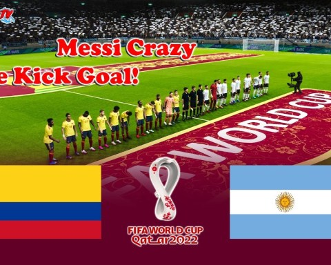 PES 2021 - Colombia vs Argentina - FIFA World Cup 2022 - Gameplay Match - Messi Crazy Free Kick