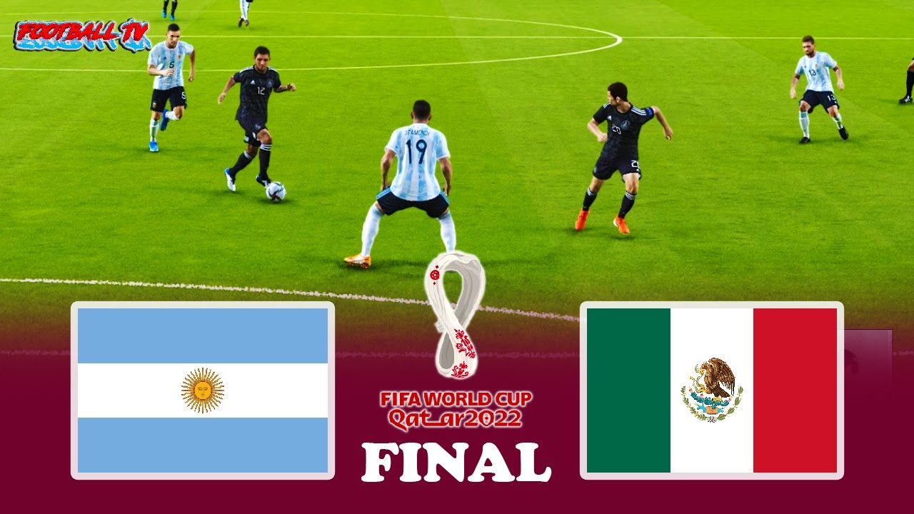 Argentina vs Mexico - Final FIFA World Cup 2022 - Full Match - PES 2021 eFootball