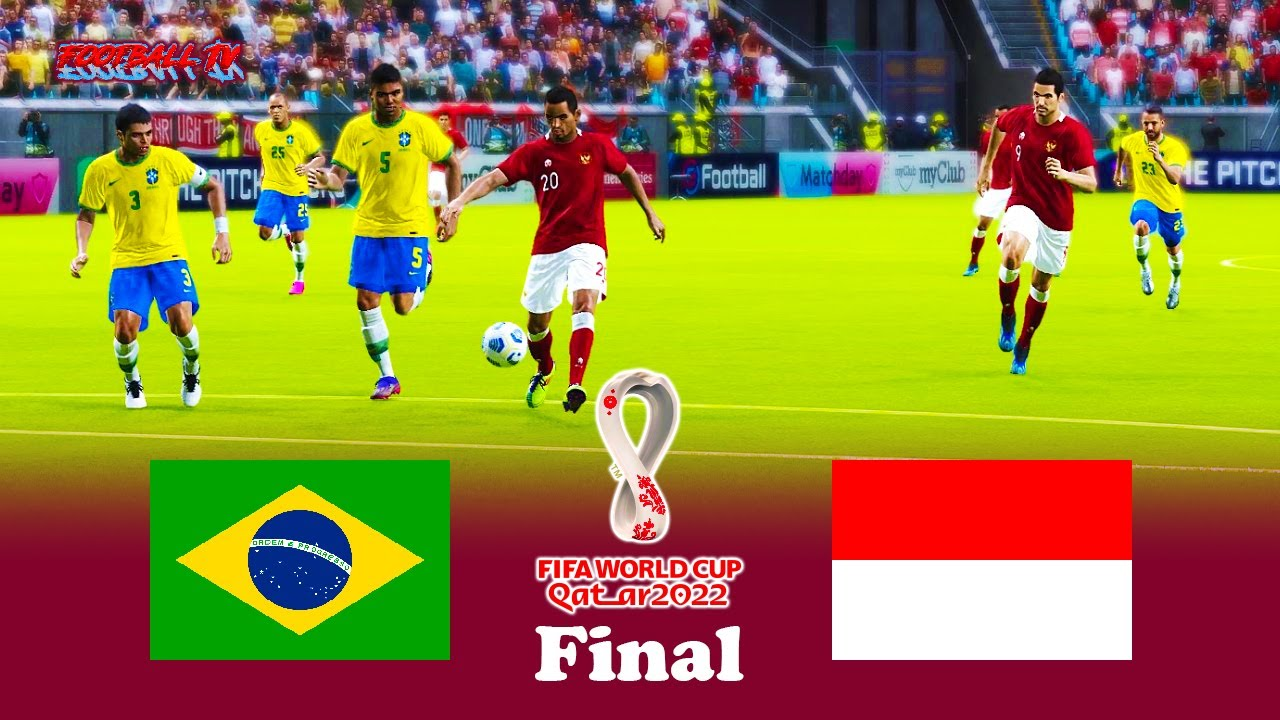 Brazil vs Indonesia - Final FIFA World Cup 2022 - Full Match - eFootball PES 2021
