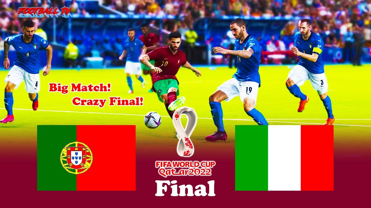Portugal vs Italy - Final FIFA World Cup 2022 - Full Match All Goals - PES 2021 eFootball
