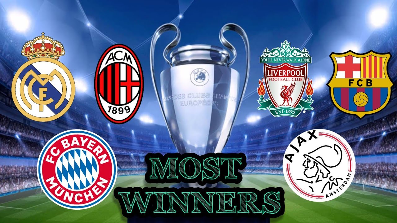 Top Clubs Most Winner UEFA Champions League Titles