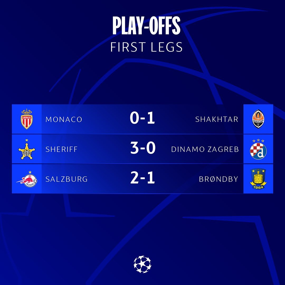 play-offs first leg results! Who impressed you most? ...