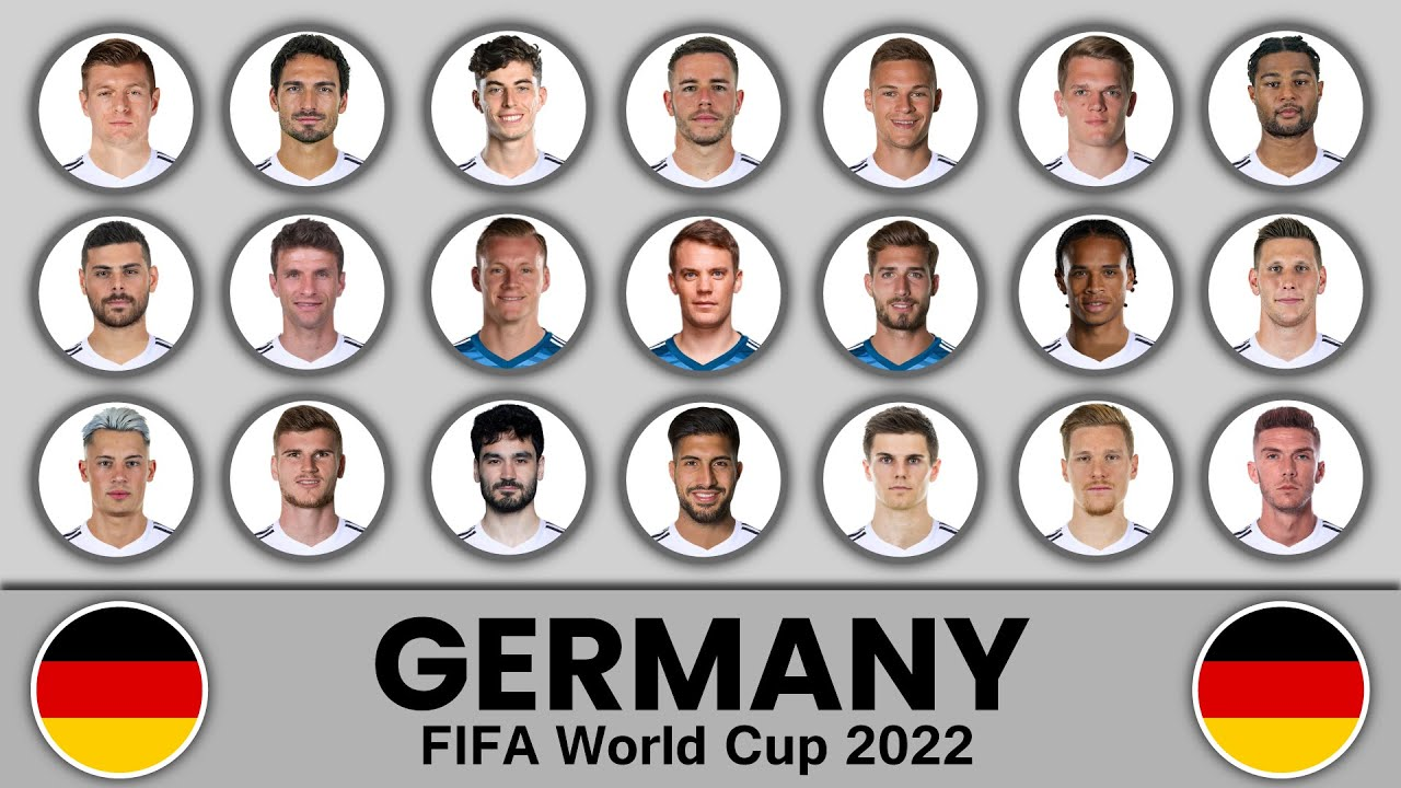 Germany Football Squad in FIFA World Cup 2022 ? Germany Football Team ? Germany Football Squad 2022