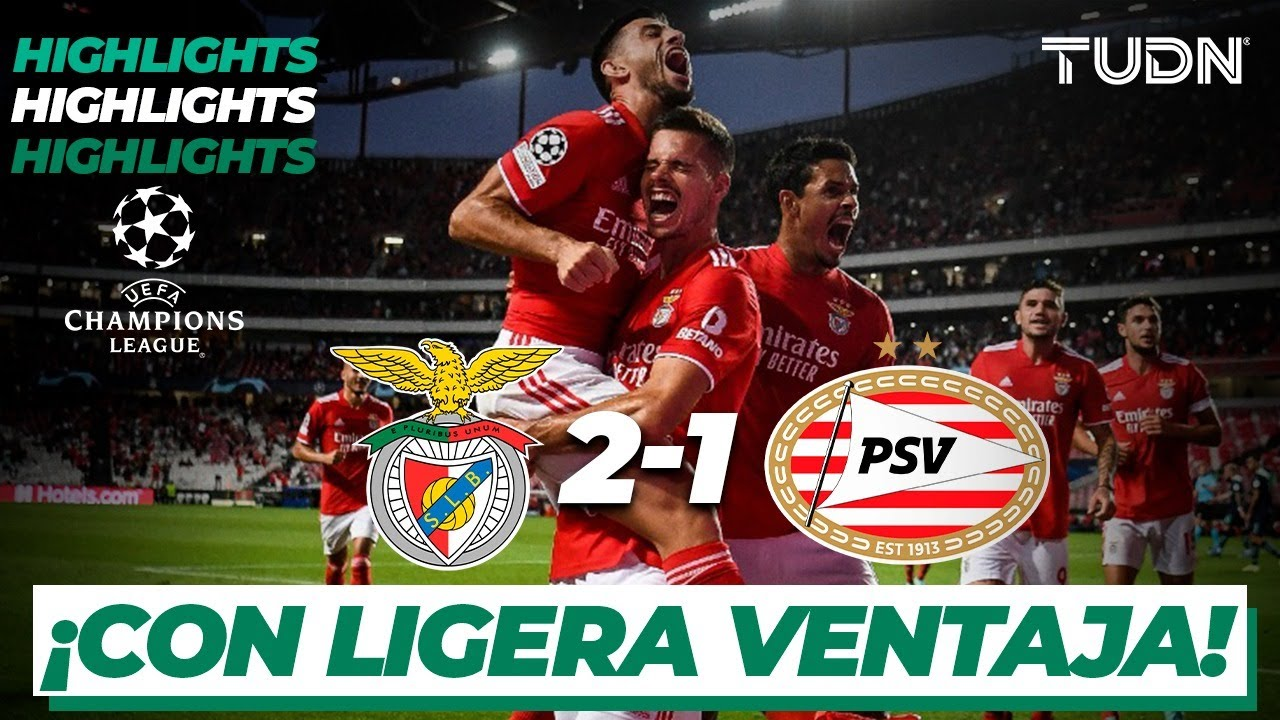 Highlights   Benfica 2-1 PSV Eindhoven   Champions League - Play Offs   TUDN