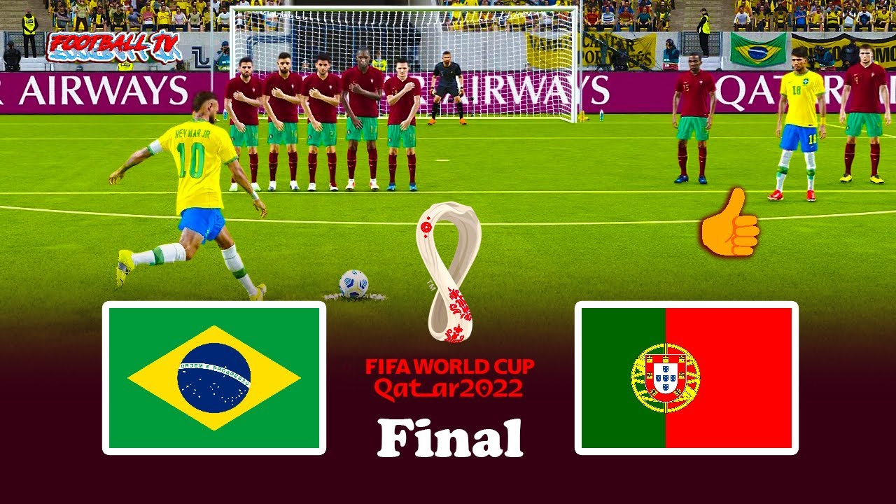 PES 2021 - BRAZIL vs PORTUGAL - Final FIFA World Cup 2022 - Match eFootball Gameplay